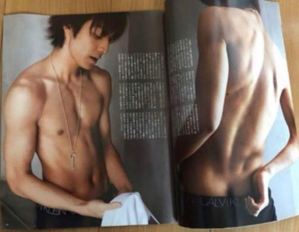 雑誌ananの生田斗真の上半身