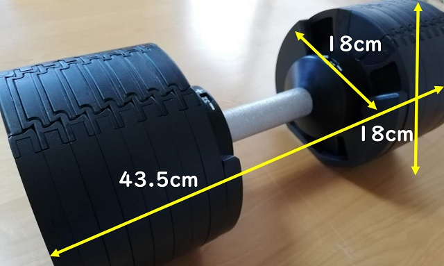 ダンベルのサイズ
